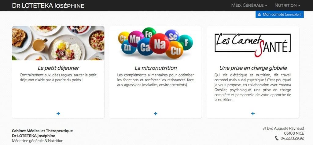 MadeForMed a permis au Dr Loteteka de créer très facilement son site internet.
